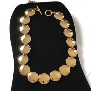 gold necklace individual circles